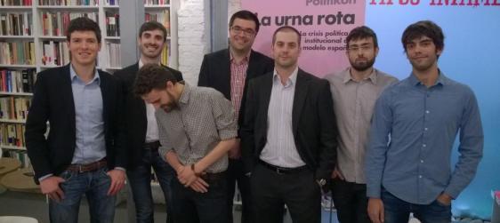Los-integrantes-de-Politikon--esta-semana--en-la-libreria-Tipos-infames-